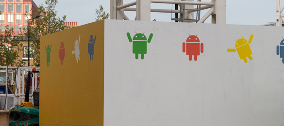 custom google droids stencils for google headquarters