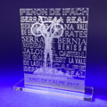 Acrylic Perspex trophy for sporting achievement